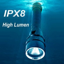 (1500364) LED T6 High Quality 2*18650 Rechargeable Waterproof 18650 Diving Flashlight