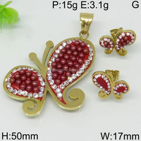 Great butterfly pattern design gold color jewelry settings without stones