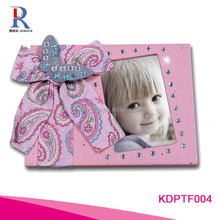 Professional Design Bling Pink Ribbon & Butterfly with Bling Diamonds Imitation Child Picture Frame