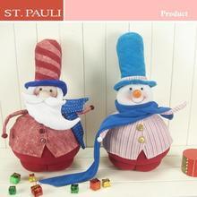 Hign quality felt soft toy santa and snowman Christmas gift