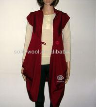 Superfine merino wool knitted wrap