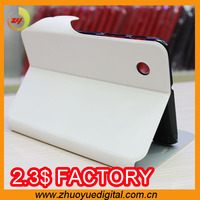 Popular pu leather smart cover with strong magnetic and two card holder case for samsung p3100