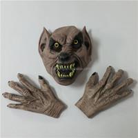 Alibaba Halloween Party Masquerade Terrorist Wolf Mask +Glove Wolf Claw Stereo Head set