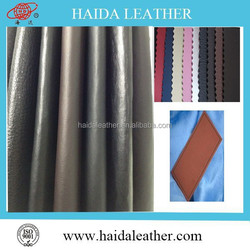 High grade color change thermo pu leather for label