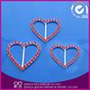 Small Fancy Heart Shape Rhinestone Buckle for Wedding Invitation Ribbon wedding rhinestone buckle