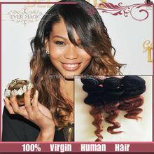 cheap glueless loose wave two tone full lace 100% indian virgin human hair wig