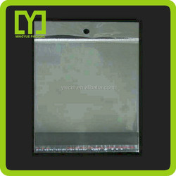 gift shop wholesale clear opp protective bag for clothing header bag hot quality