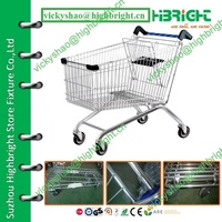 costco wholesale mall metal shopping cart with adjustable handle