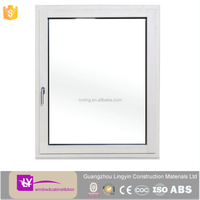 2016 modern white PVC swing windows with double clear glazed good price