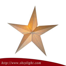 Popular Christmas Decoration Gold Paper Star Lantern Pattern