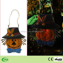 Harvest metal pumpkin decoration solar stake light