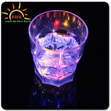 Plastic Liquid Activated little shot Mark mug Whiskey wine flashing led glass cups by China supplier