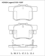 For HONDA Accord Civic Odyssey Element Brake Pad 43022-SM4-G00 D5066M A-359WK D536-7418 21719 23652