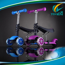 3 wheel children mini kick scooter with seat and light wheel for sale