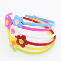 HL-0371 Colorful Cute Flower Hair Hoop High Quality Plastic Headband for Children and Girls