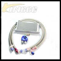16 ROW AN8 UNIVERSAL ENGINE TRANSMISSION OIL COOLER KIT+FILTER RELOCATION KIT