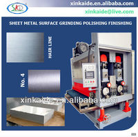 Metal sheet surface grinding production line