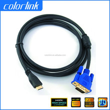 2015 VGA to HDMI Cable with Chipset Male to Male for PC DVD HDTV