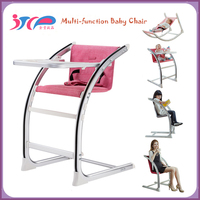 Baby products wholesale adjustable European standard aluminium multifunction adult baby high chair for eating