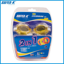 China Manufacture Mesuca Kid Swimming Set 2 in 1 (One Waterproof goggle + One Swimming Ring) ASM6254