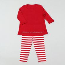 2015 otoño trajes para las niñas trajes navidad conjunto algodón vestido de bebé venta al por mayor