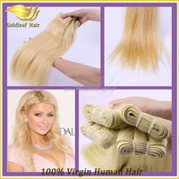 2014 hot sale 6A Grade noble gold hair