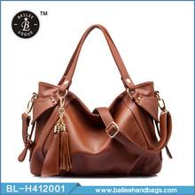 moda cor sólida couro genuíno bolsa de couro marrom