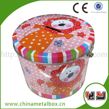 Customized Fancy Tin Storage Boxes Bus Coin Bank