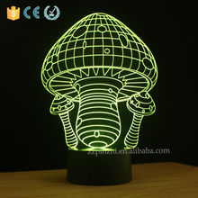 Mushroom shape kids led table lamp with usb cable color flashing