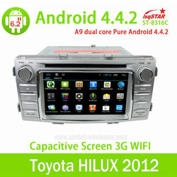 Wholesale with Mirror link OBD 3G Wifi for Toyota Hilux pure Android 4.4.2 Car Radio with Gps navigation