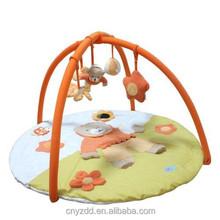 Plush Bear Baby Mat with Fitness Frame / Orange Floor Mat with diameter 95cm
