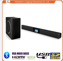 2.1 Channel Home theater system Bluetooth Sound bar with Built-In Subwoofer / TV Sound bar