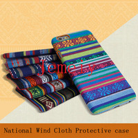 Creative Design Cell Phone Case For Samsung Note 4 Bohemia National Wind Tribal Fabric Cloth Skin Back Case Cover