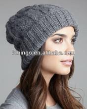 Top quality grey crochet beanie hat knitting pattern for girls