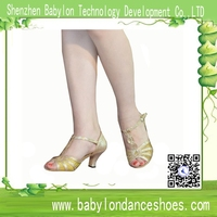 2015 Latest models modern / latin / salsa dance shoes nude dance club shoes customized color and heel as you require