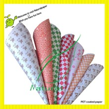 110g PET coated paper for baking cups making with printing design