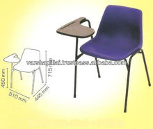 School Chair with writing pad, school chair with writing board,Plastic School Chair With Writing Board,