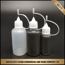 china wholesale 30ml plastic dropper e liquid bottle with metal needle tip