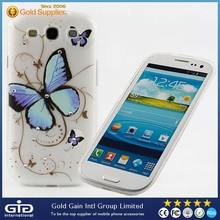 Drawing Process Diamante Butterfly Case Cover For Samsung for Galaxy S3 I9300