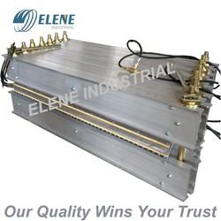 Vulcanization press for steel cord rubber conveyor belt splice