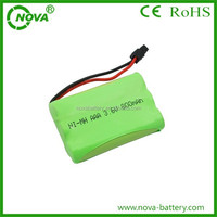 ni-mh rechargeable battery packs aaa 3.6v 800mah