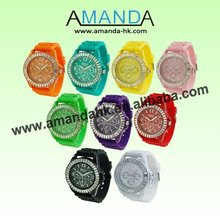2013 The Hottest Seller Women's Platinum Geneva Watch,21Colors High Quality,Good Quality And Good Service,Plenty Of Stock,