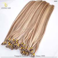 Hot Sale!Top Quality I/U/V/Flat Tip Hair Extension,Wholesale russian cold fusion flat tip hair
