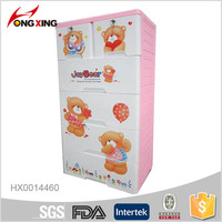 5-layer plastic cabinet for baby clothes