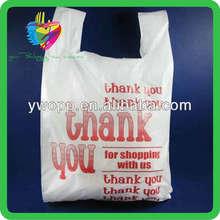 Yiwu thank you t shirt plastic shopping carrier bags