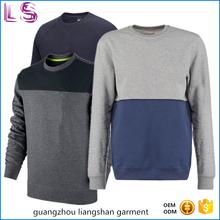 Wholesale Custom Two Colors Mens Crewneck Plain 100 Cotton Sweatshirts