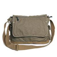 0604 Best Selling Stylish Vintage Green Man Canvas Shoulder Bag Men Bag for School Travel