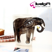 Souvenir Coffee Mug Ceramic 3D Animal Elephant Coffee Mug