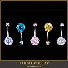 Tragus Piercing 4 Color Crystal Stainless Steel Lip Rings Piercing