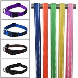 2015 hot sale nylon collar dog with reflective yarn in large stock